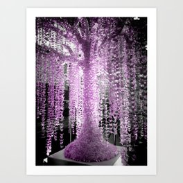09 Paper Crane Tree Art Print