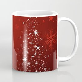 Holiday Christmas Christmas Tree Red Snowflake Sta Coffee Mug