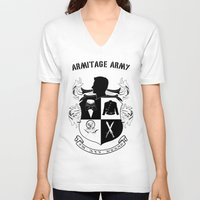 army V-neck T-shirts featuring Armitage Army by Circus Doll