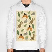 woodland Hoodies featuring woodland by Melrose Illustrations