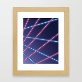 Laser Class Photo Backdrop Framed Art Print