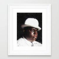 biggie smalls Framed Art Prints featuring Biggie Smalls by André Joseph Martin