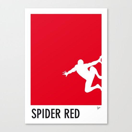 My Superhero 04 SpiderRed Minimal poster Canvas Print