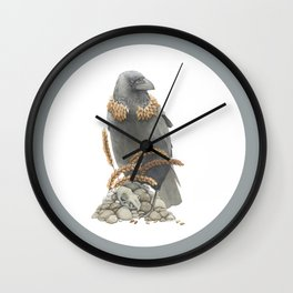 The Crow and the Wheat Wall Clock