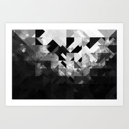 Abstract Black Geometric Kunstdrucke