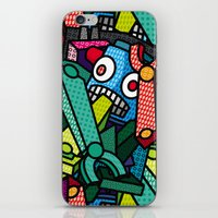 artsy iPhone & iPod Skins featuring Artsy Bot by Brandon Ortwein
