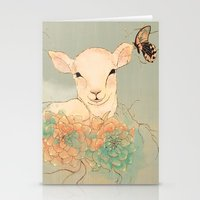 lamb Stationery Cards featuring Lamb by La Cococita