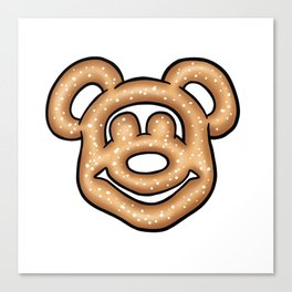 Mickey Mouse Pretzel Canvas Print