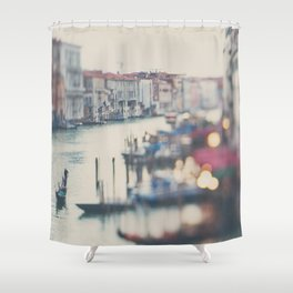 winter in Venice ... Shower Curtain