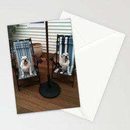 Bulldogs Lounging Stationery Cards
