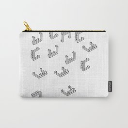 Pixelated 3D glasses pattern Carry-All Pouch