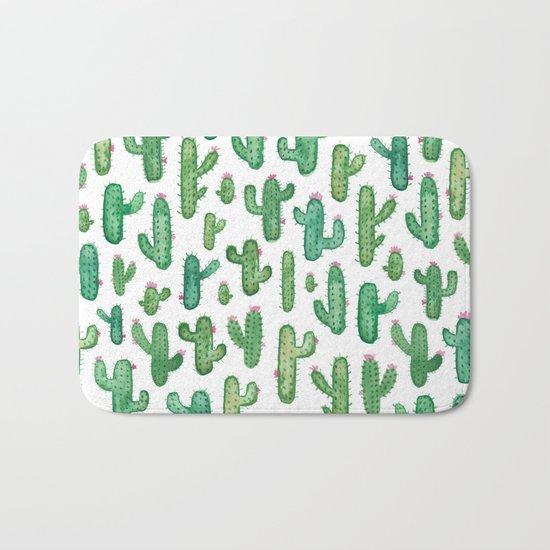 Cactus Pattern. Bath Mat