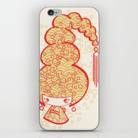 bon iver iPhone & iPod Skins featuring Bon Bon Girl - Flowers by Modondi