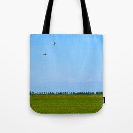 blue sky green grass Tote Bag