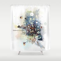 physics Shower Curtains featuring Big Bang by Travis Clarke