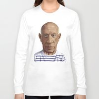 pablo picasso Long Sleeve T-shirts featuring Celebrity Sunday ~ Pablo Picasso by rob art | illustration