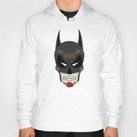 superheros Hoodies featuring Bat-Man Sugar Skull by Clark Street Press