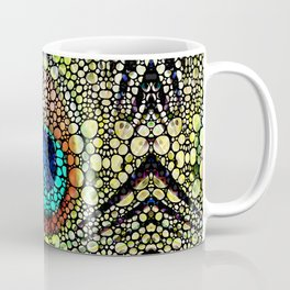 Peacock Feather Pattern - Stone Rock'd Art by Sharon Cummings Coffee Mug