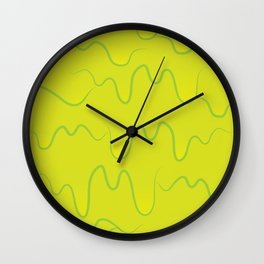 Green Slime Wall Clock