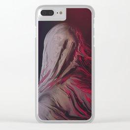 Red Veil II Clear iPhone Case