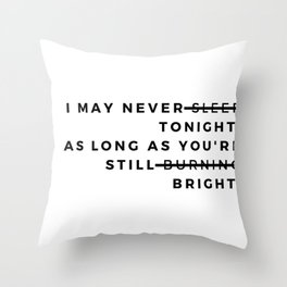 trade mistakes Throw Pillow