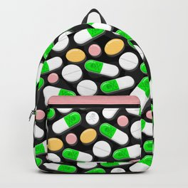 Deadly Pills Pattern Backpack