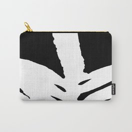 Green Fern White and Black Carry-All Pouch