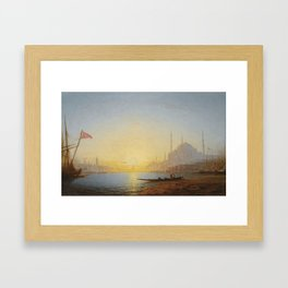 Amédée Rosier 1831 - 1898 FRENCH VIEW OF CONSTANTINOPLE Framed Art Print