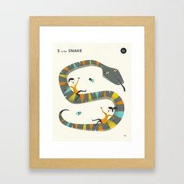 S is for SNAKE Framed Art Print