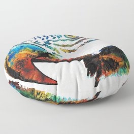 Parrot Head Art By Sharon Cummings Floor Pillow