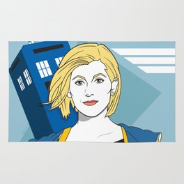 The Doctor in the 80s Rug