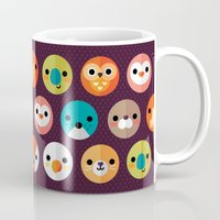 write Mugs featuring SMILEY FACES 1 by Daisy Beatrice