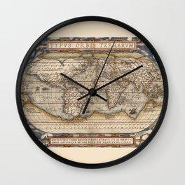 TYPVS ORBIS TERRARUM Wall Clock