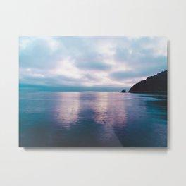 Catalina Island in Teal and Purple Metal Print