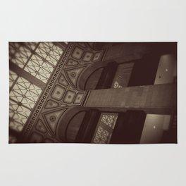 Wintrust Building Columns Original Photo Rug