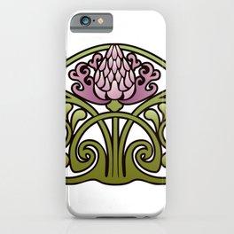 Nouveau Thistle iPhone Case