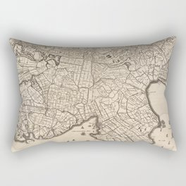 Vintage Map of Amsterdam Holland (1690) Rectangular Pillow