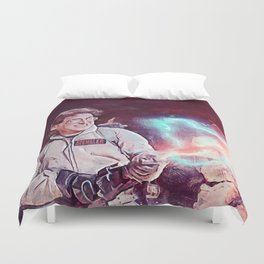 Egon Battling Gozer With The Ghostbusters Duvet Cover