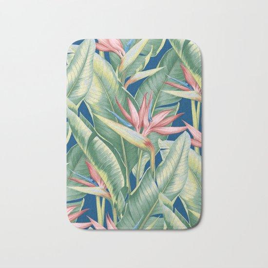 Flowers Birds of Paradise Bath Mat