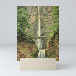 MULTNOMAH FALLS - COLUMBIA GORGE WATERFALL - OREGON Mini Art Print