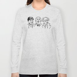 Stooges Moe, Curly and Larry Long Sleeve T-shirt