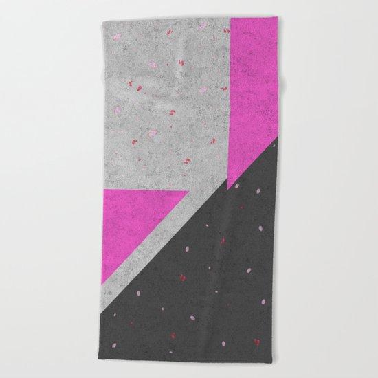 Geometric Shapes Pattern Beach Towel