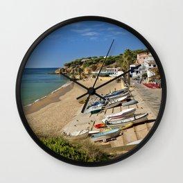 Olhos d'Agua village, Portugal Wall Clock
