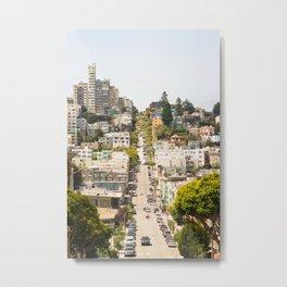 Climbing Hills in San Francisco Metal Print