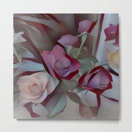 Still Roses Metal Print