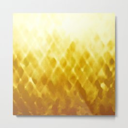 Diamond Fade in Gold Metal Print