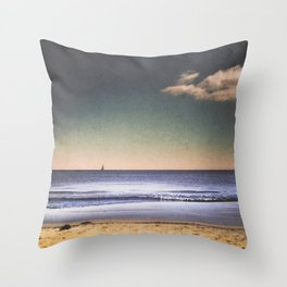 Wind in my beard Throw Pillow