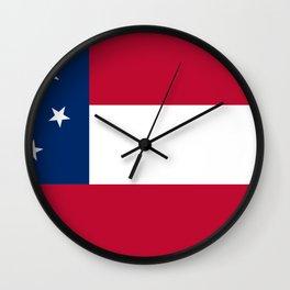Stars And Bars Wall Clock