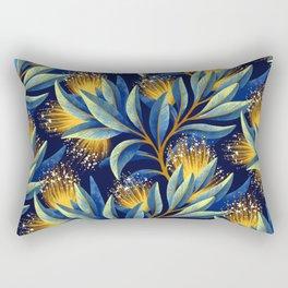 Pohutukawa - Yellow / Blue Rectangular Pillow