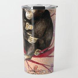 Chimp with baby Travel Mug